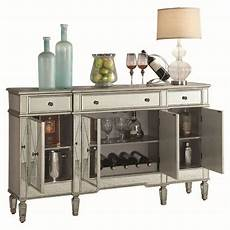 the mirrored wine cabinet has a clean design with a