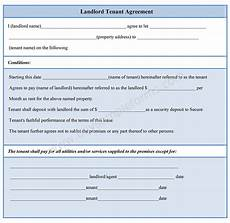 Landlord Templates Landlord Tenant Agreement Form Sample Forms