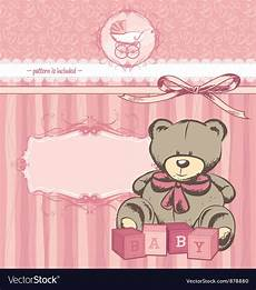 Welcome Baby Girl Welcome Baby Girl Announcement Card Royalty Free Vector