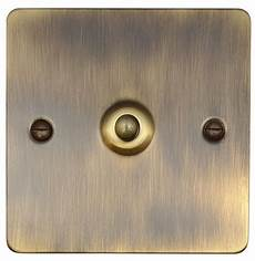 Flat Plate Toggle Light Switches G Amp H Fab285 Flat Plate Antique Bronze 1 Gang Intermediate