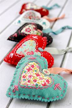 how to make lavender fabric hearts sew handimania