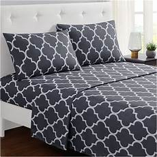 mellanni bed sheet set king gray brushed microfiber