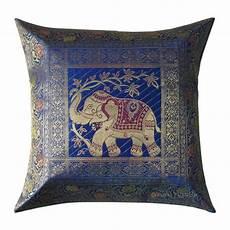 17 quot blue color indian beautiful elephant print silk