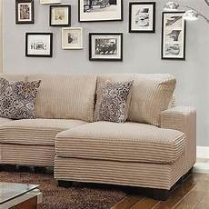 amelia sectional cm6372 in beige wide wale corduroy