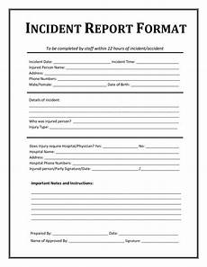 Incident Information Report 13 Incident Report Templates Excel Pdf Formats