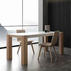 tavolo da cucina in legno tavolo moderno factory bicolor in legno allungabile