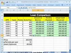 Comparing Excel Sheets Highline Excel Class 49 Spreadsheet To Compare Loans