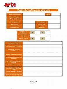 Formatos Para Referencias Laborales Formato De Solicitud De Referencias Laborales