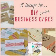Home Made Buisness Cards 5 Ways To Make Unique Business Cards