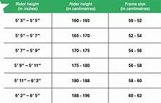 Bike Frame Size Chart Cm Road Bike Size Guide Follow Our Sizing Chart Amp Boost