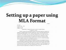 How To Write A Mla Style Research Paper Setting Up A Paper Using Mla Format