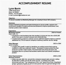 Accomplishment Based Resume Accomplishment Based Resume Resume Examples