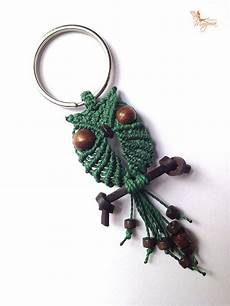 macrame keyring items similar to choose your color macrame owl keyring