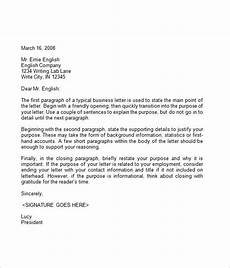Business English Letter Sample Free 7 Business Letter Samples In Pdf Ms Word