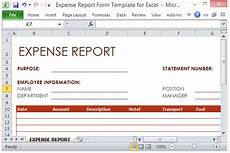 Expense Manager Excel Template Expense Report Form Template For Excel