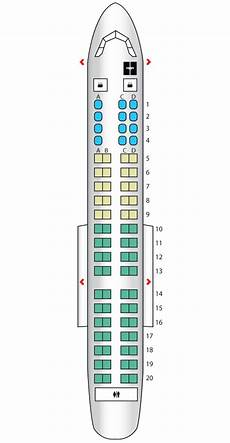 American Eagle Seating Chart Main Cabin Embraer 175 American Eagle Seat Maps