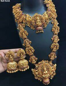 22k Gold Indian Jewellery Designs Indian 22k Gold Plated Necklace Handmade Fine Jewelry