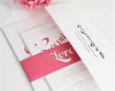 Pink Invitations Pink Wedding Invitations With Large Names Wedding
