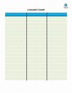 Three Column Chart T Chart With 3 Columns Templates At Allbusinesstemplates Com