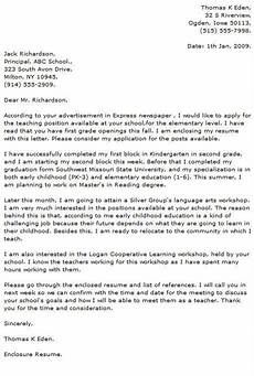 Reading Teacher Cover Letters Teacher Cover Letter Examples Resume Now