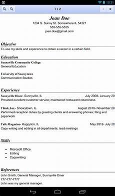 Microsoft Resume Maker Resume Builder Pro Screenshot