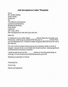 How To Write Job Acceptance Letter Job Acceptance Letter Sample Free Download