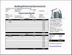 construction payment receipt template construction receipt template free receipt templates