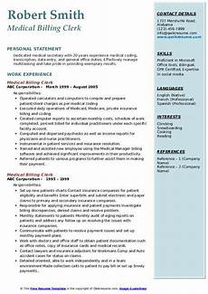 Medical Billing Duties Medical Billing Clerk Resume Samples Qwikresume