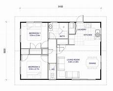 flat house plan 2 bedroom 60m2 latitude homes
