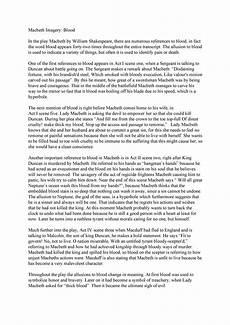 Macbeth Essay Conclusion How To Write A Macbeth Essay