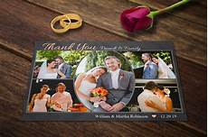 Wedding Thank You Postcard Template Wedding Thank You Cards Template Psd Postcard Templates