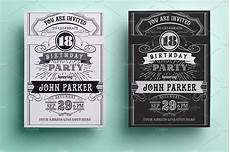 Vintage Party Invitation Vintage Birthday Invitation Invitation Templates