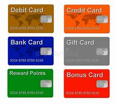 Credit Card Sample Sample Credit And Gift Cards Stock Illustration