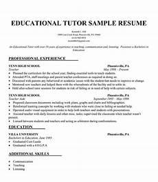 Tutor Resume Educational Tutor Resume Sample Resumecompanion Com