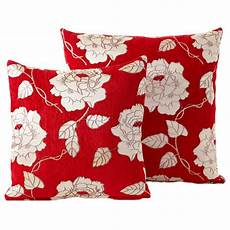 chenille cushions luxury floral woven scatter small
