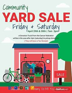 Garage Sale Flyers Examples Free Yard Sale Flyer Template Word Doc Psd Apple