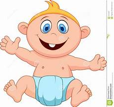 Cartoon Babies Pictures Baby Boy Cartoon Stock Vector Illustration Of Sitting