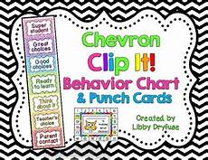 Chevron Behavior Clip Chart Clip It Behavior Chart And Punch Cards Bright Chevron By