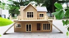 building cardboard villa house diy at home house