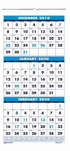 3 Month Calendar 2020 House Of Doolittle 3 Month Vertical Wall Calendar 2020