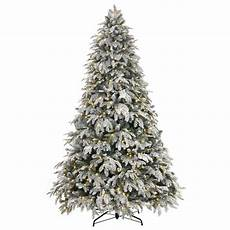 Home Depot Trees With Lights Home Accents Holiday 7 5 Ft Pre Lit Led Flocked Mixed
