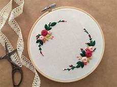 embroidery hoop embroidery floral embroidery