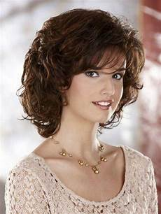 medium length curly hairstyles for round faces