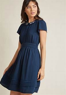 feminine shirt dress with embroidered collar modcloth