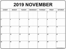 Calendar Month November 2020 November 2019 Calendar Monthly Calendar Printable Free