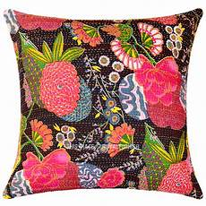 Sofa Pillow Covers 24x24 3d Image by Large 24x24 Decorative Boho Accent Cotton Kantha