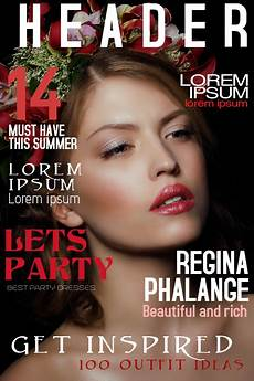 A Magazine Copy Of Fashion Beauty Magazine Cover Template Postermywall