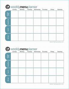 2 Week Meal Planner Click To Print Tpm Customizable Two Week Menu Planner