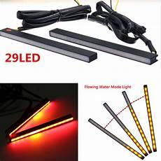 Red Tape Over Light 1pair Car Led Red Brake Stop Light Yellow Turn Signal With