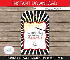 Party Favor Tag Magic Party Favor Tags Thank You Tags Birthday Party